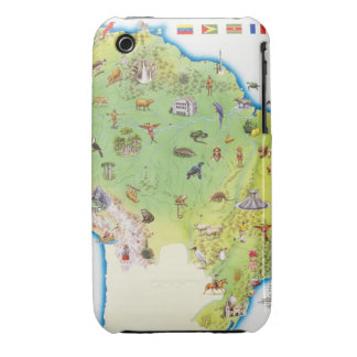 Map of Northern South America Case-Mate iPhone 3 Case