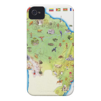 Map of Northern South America Case-Mate iPhone 4 Case