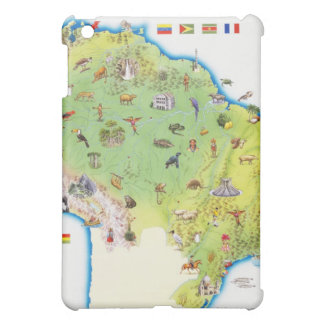 Map of Northern South America Cover For The iPad Mini