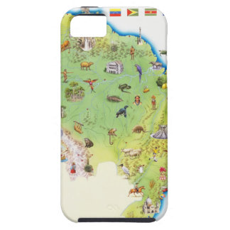 Map of Northern South America iPhone SE/5/5s Case