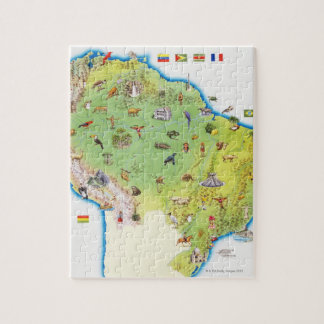 Map of Northern South America Jigsaw Puzzle