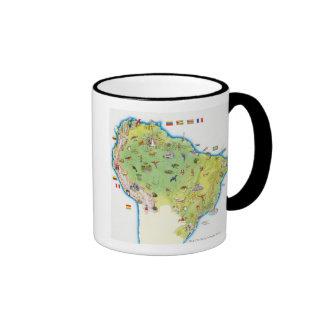 Map of Northern South America Coffee Mugs