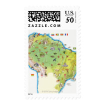 Map of Northern South America Postage