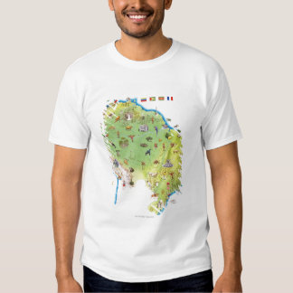 Map of Northern South America T-Shirt