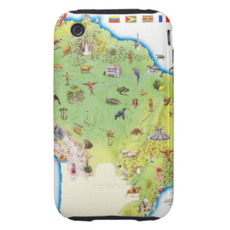 Map of Northern South America Tough iPhone 3 Cases