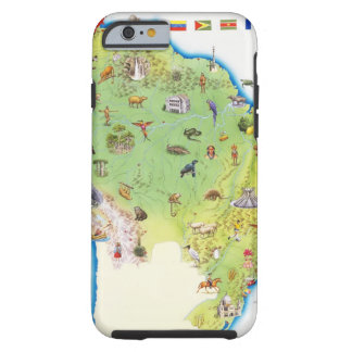 Map of Northern South America Tough iPhone 6 Case