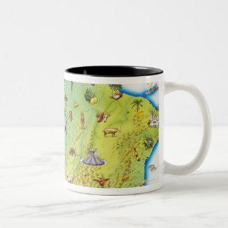 Map of Northern South America Two-Tone Coffee Mug