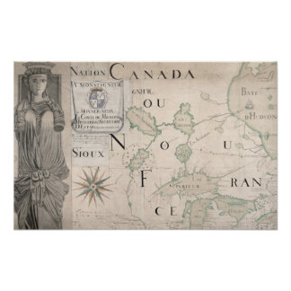 Map of Nouvelle-France  1699 Poster