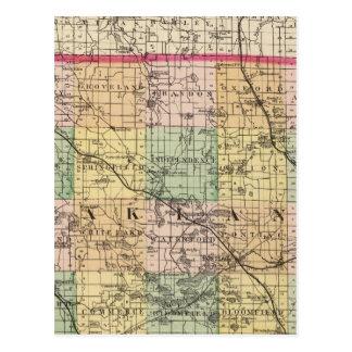 Map of Oakland County, Michigan Postcard