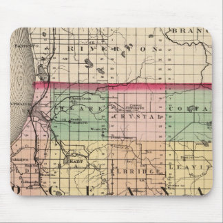 Map of Oceana County, Michigan Mouse Pad