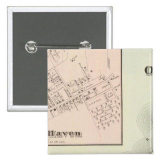 Map of Oceanic and Fair Haven, NJ 2 Inch Square Button