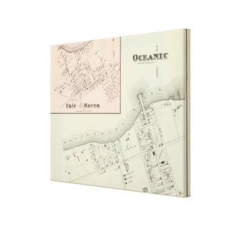 Map of Oceanic and Fair Haven, NJ Canvas Print