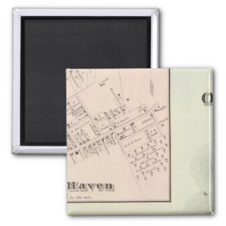 Map of Oceanic and Fair Haven, NJ Magnet