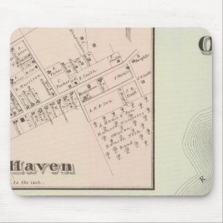 Map of Oceanic and Fair Haven, NJ Mouse Pad