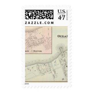 Map of Oceanic and Fair Haven, NJ Postage