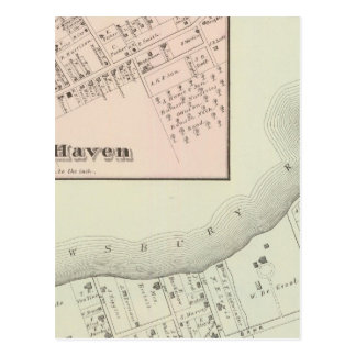 Map of Oceanic and Fair Haven, NJ Postcard
