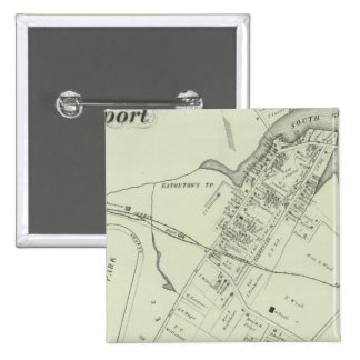 Map of Oceanport, NJ Pinback Button