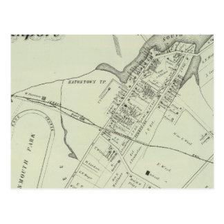 Map of Oceanport, NJ Postcard