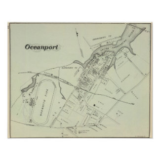 Map of Oceanport, NJ Poster