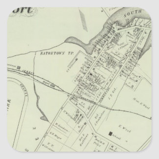 Map of Oceanport, NJ Square Sticker