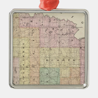 Map of Oconto County northern part Christmas Ornament