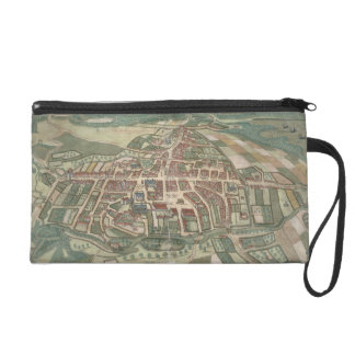 Map of Odense, from 'Civitates Orbis Terrarum' by Wristlet Purse