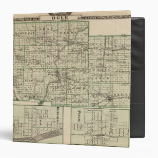 Map of Ogle County, Polo and Oregon 3 Ring Binders
