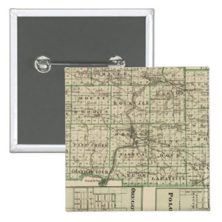 Map of Ogle County Polo and Oregon Pin