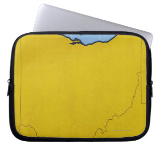 Map of Ohio 2 Laptop Sleeves