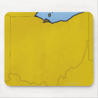 Map of Ohio 2 Mouse Pad