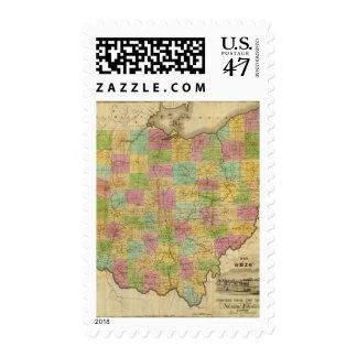 Map of Ohio 2 Postage