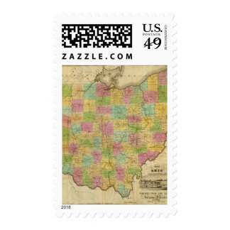 Map of Ohio 2 Stamps