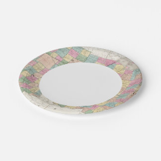 Map of Ohio And Indiana Paper Plate