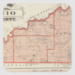 Map of Ohio County with City of Rising Sun Square Stickers