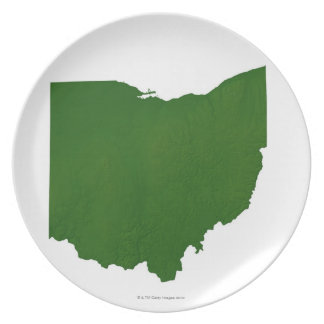 Map of Ohio Dinner Plate