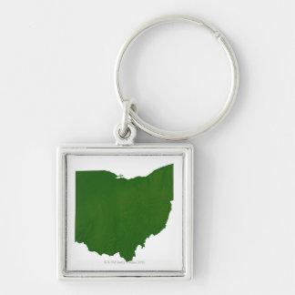 Map of Ohio Keychain