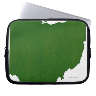 Map of Ohio Laptop Computer Sleeves