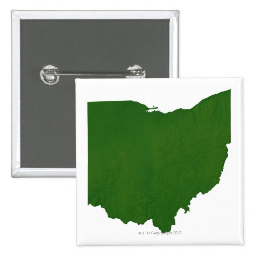 Map of Ohio Pinback Buttons