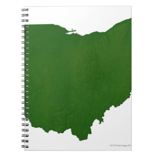 Map of Ohio Spiral Notebook