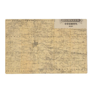 Map of Olmsted County, Minnesota Placemat