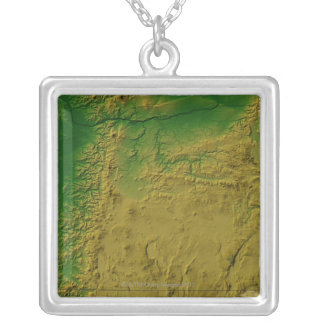 Map of Oregon Silver Plated Necklace