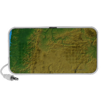 Map of Oregon Laptop Speaker