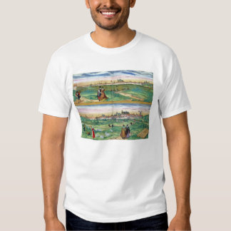 Map of Orleans and Bourges, from 'Civitates Orbis T-shirt