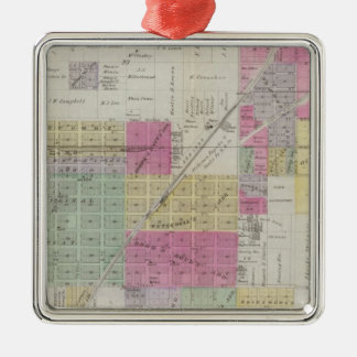 Map of Osage City Kansas Christmas Ornament