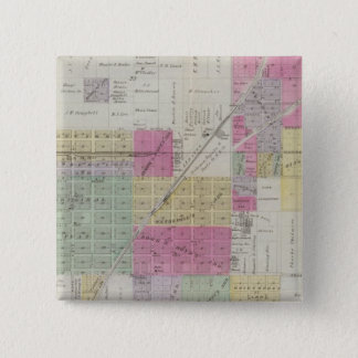 Map of Osage City, Kansas Pinback Button