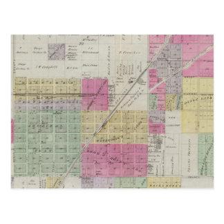 Map of Osage City, Kansas Postcard