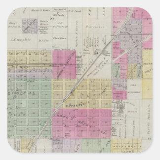 Map of Osage City Kansas Sticker