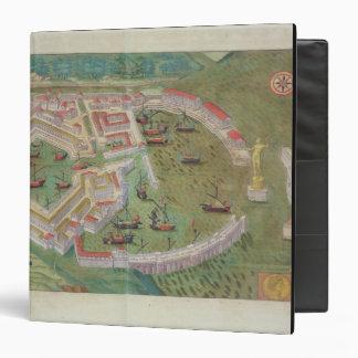 Map of Ostia, from 'Civitates Orbis Terrarum' by G Binder