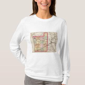 Map of Ottawa County, Michigan T-Shirt