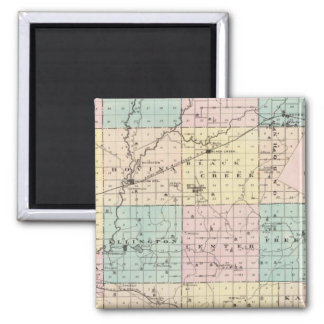 Map of Outagamie County, State of Wisconsin 2 Inch Square Magnet